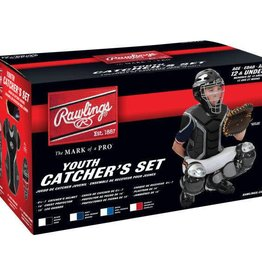 Rawlings RAWLINGS RENEGADE CATCHER SET AGES 12 AND UNDER - BLACK