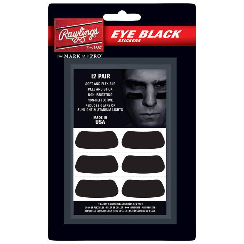 Rawlings RAWLINGS EYE BLACK PATCHES 12 PAIR