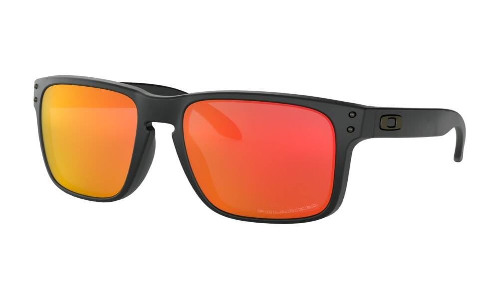 Oakley OAKLEY HOLBROOK - FLAT BLACK W/ RED IRIDIUM LIFESTYLE