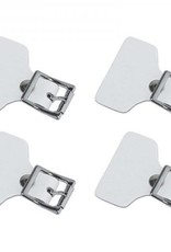CCM Hockey CCM Buckle Strap Tab Accessories Senior OSFA WHITE