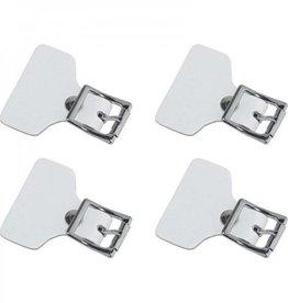 CCM Hockey CCM Buckle Strap Tab Accessories Senior OSFA WHITE