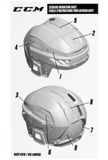 CCM Hockey CCM HELMET STICKERS - FL90 - ACHSTK FL90