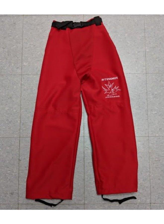 Mosspro Belted Ringette Pants - Red - Senior
