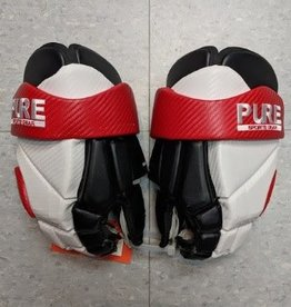 Pure PURE RINGETTE GLOVE LEATHER - Wht/Blk/Red - 13""