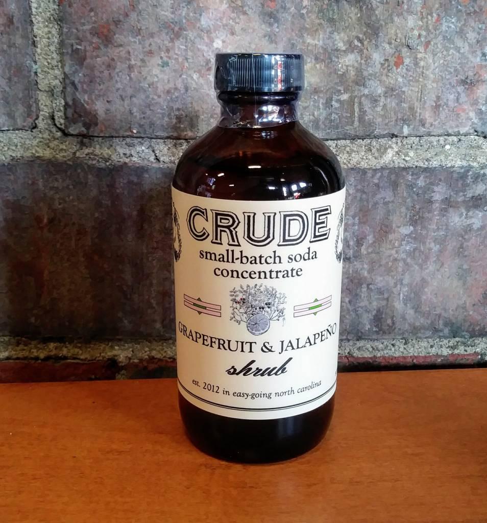 Crude Bitters & Sodas Crude Shrubs & Tonics Grapefruit-Jalapeno 8 oz