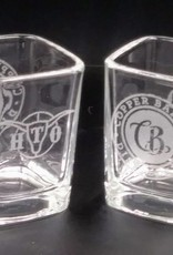 HonkyTonk Outlaws Laser Etched Shot Glass [Square] (HTO)