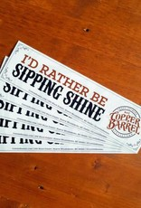 'Sipping Shine' Bumper Sticker