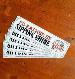 Copper Barrel 'Sipping Shine' Bumper Sticker