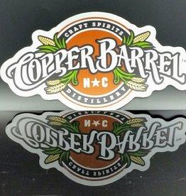 """Copper Barrel Full Color Vinyl Car Sticker [12"""" x6.5""""]"""
