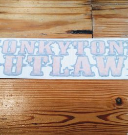 HonkyTonk Outlaws Bumper Sticker