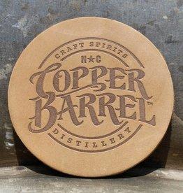 Copper Barrel Leather Coaster [Natural]