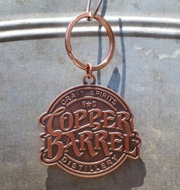 Copper Barrel Distillery Diecut Keychain