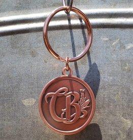 Copper Barrel Distillery Round Keychain