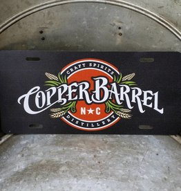 Copper Barrel License Plate (Aluminum)