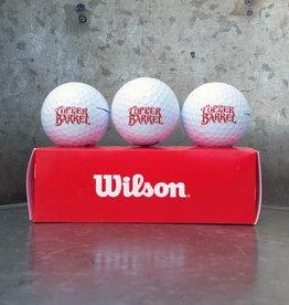 Copper Barrel Wilson Golf Ball (3-Pack)