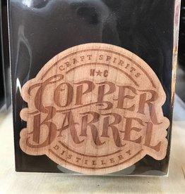 Copper Barrel Distillery Wood Sticker - Copper Barrel logo [Cherry]