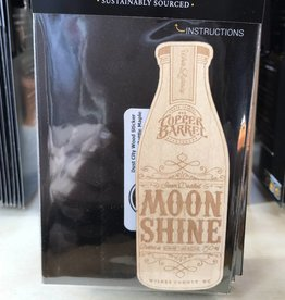 Copper Barrel Distillery Wood Sticker - Moonshine Bottle [Maple]