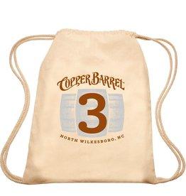 Copper Barrel Drawstring Cotton Backpack (3 Barrels)