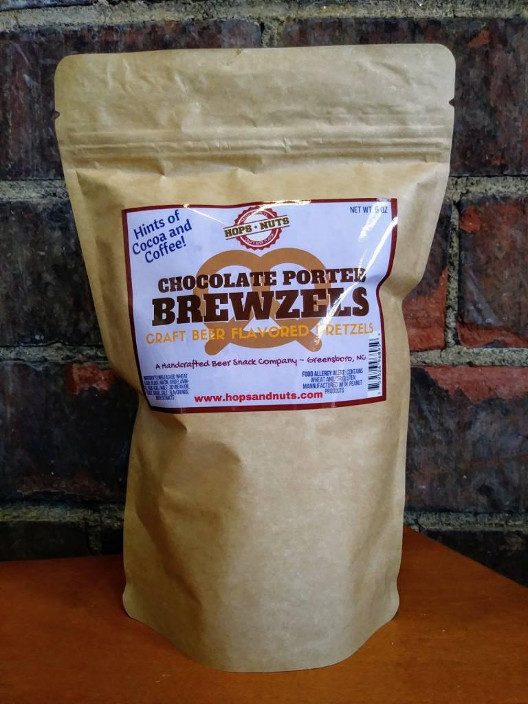 Hops and Nuts Pretzels (Chocolate Porter Brewzels)
