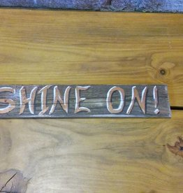 Copper Barrel Provisions Re-claimed Wood Signs {Shine On}