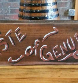 Copper Barrel Provisions Re-claimed Wood Signs  {Taste of Genuine}