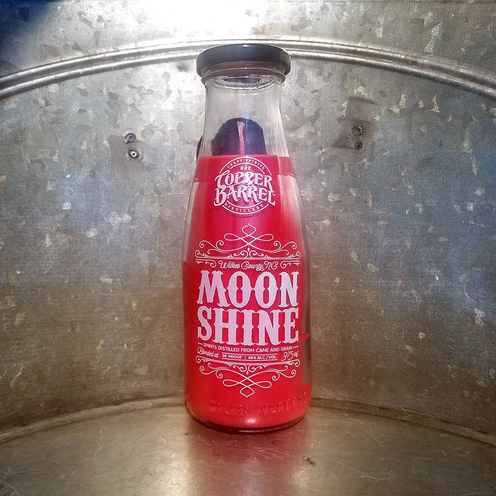 Copper Barrel Provisions Moonshine Candle [Strawberry]