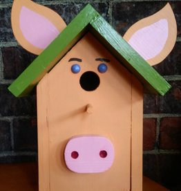 Copper Barrel Bird House [Peach/Green]