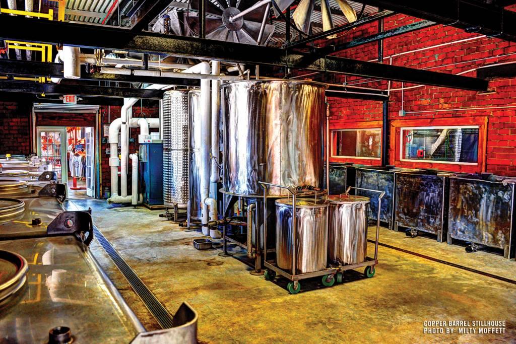 Copper Barrel Distillery Stillhouse Print by Milty Moffett (8 x 10)
