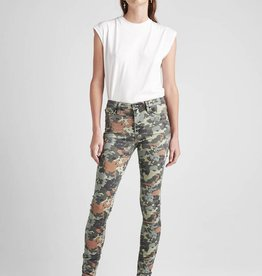 Hudson Barbara Highrise Super Skinny - German Camo
