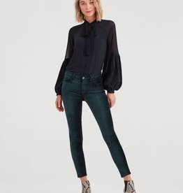 7 For All Mankind Velvet Ankle Skinny -  Blackended Emerald