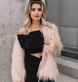 Lost + Wander Speak Now Faux Fur Coat