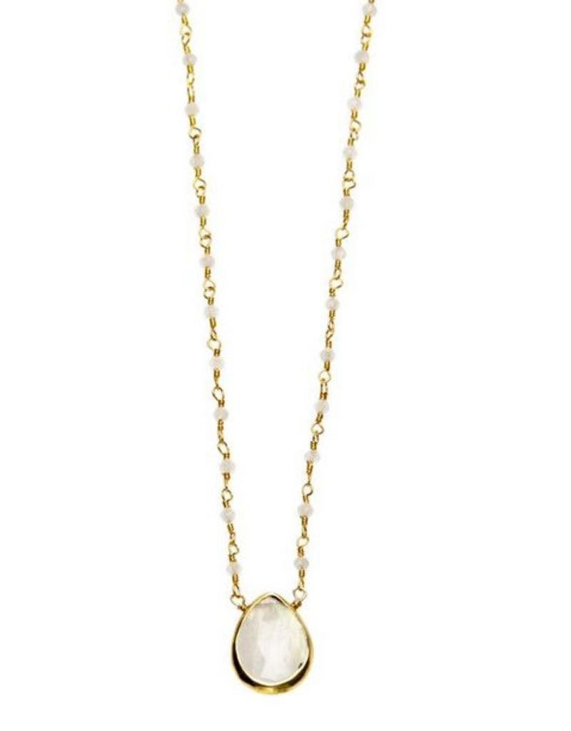Joy Dravecky Fall Pear Stone Necklace