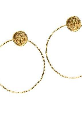 Joy Dravecky Fortune Hoop Earring