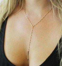 Joy Dravecky Take a Chance Y Necklace