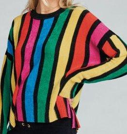 Show Me Your Mumu Jesse Sweater - Rainbow Parade Knit