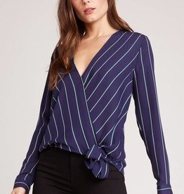 BB Dakota Friday Night Stripes Crossover Top