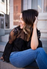 Cupcakes & Cashmere On Another Level Lace Top