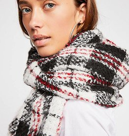 Free People Emerson Plaid Scarf - Ivory