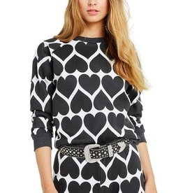 Wildfox Dark Hearts Junior Sweatshirt