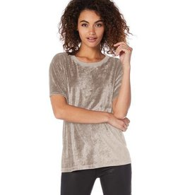Michael Stars Vali Velvet Crew Neck Top
