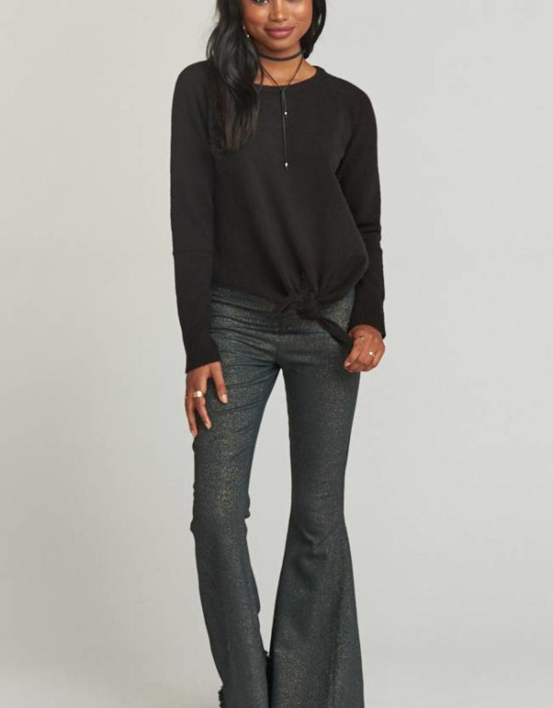 Show Me Your Mumu Shelby Sweater - Black Cozy Knit