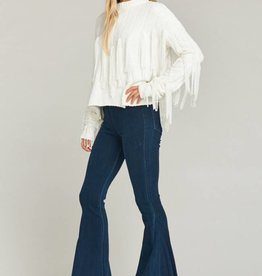 Show Me Your Mumu Carlton Crop Fringe Sweater