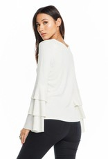 Chaser Crossover Tiered Sleeve Top