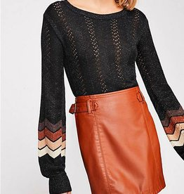 Free People Charli Vegan A-Line Skirt