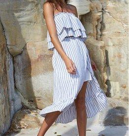 Minkpink Baja Faux Wrap Midi Skirt