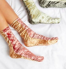 Free People Colorblock Velvet Sock