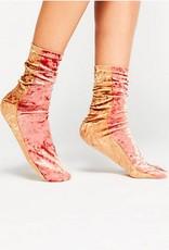 Free People Colorblock Velvet Sock