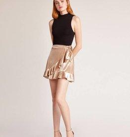 BB Dakota Look This Good Velvet Wrap Skirt