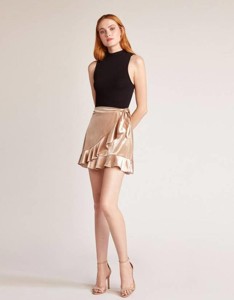 BB Dakota Look This Good Velvet Wrap Skirt