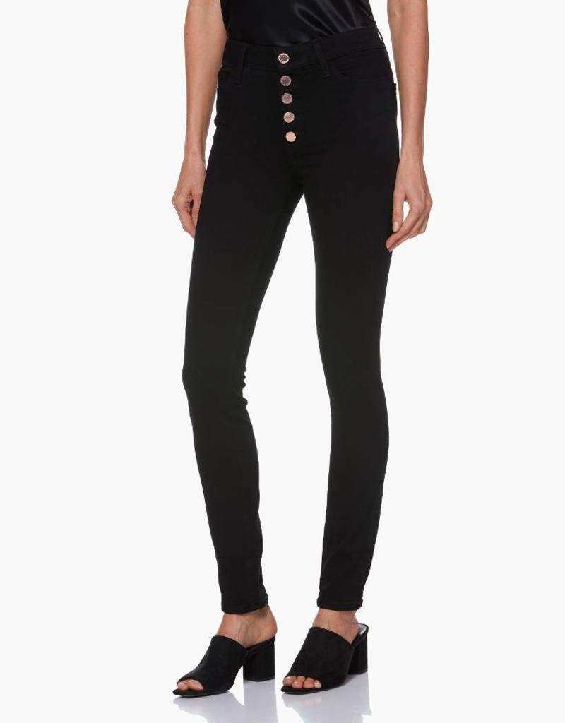 Paige Hoxton Ultra Skinny Exposed Button - Black Shadow